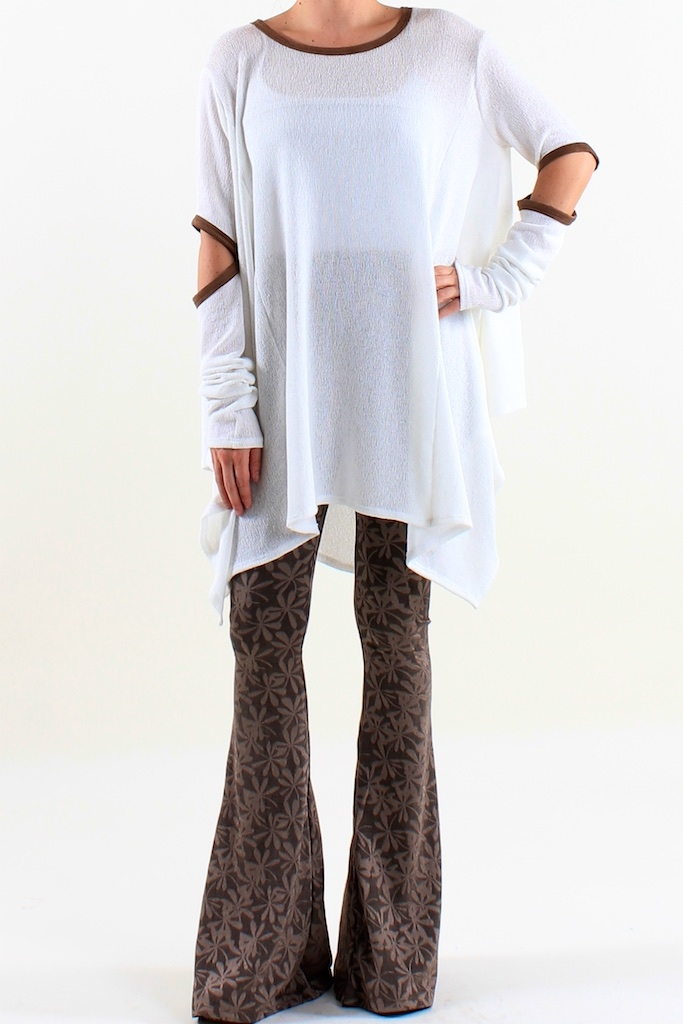 Uneven Hem Oversized Sweater  - orangeshine.com