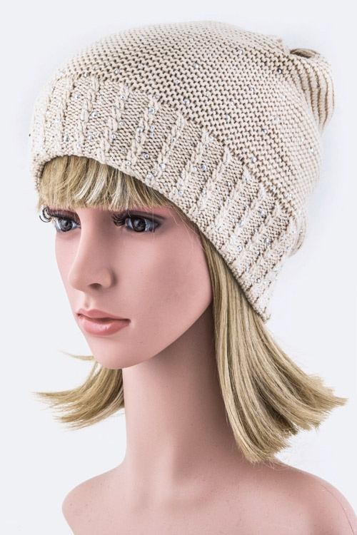 Clustered Crystals Beanie Hat - orangeshine.com