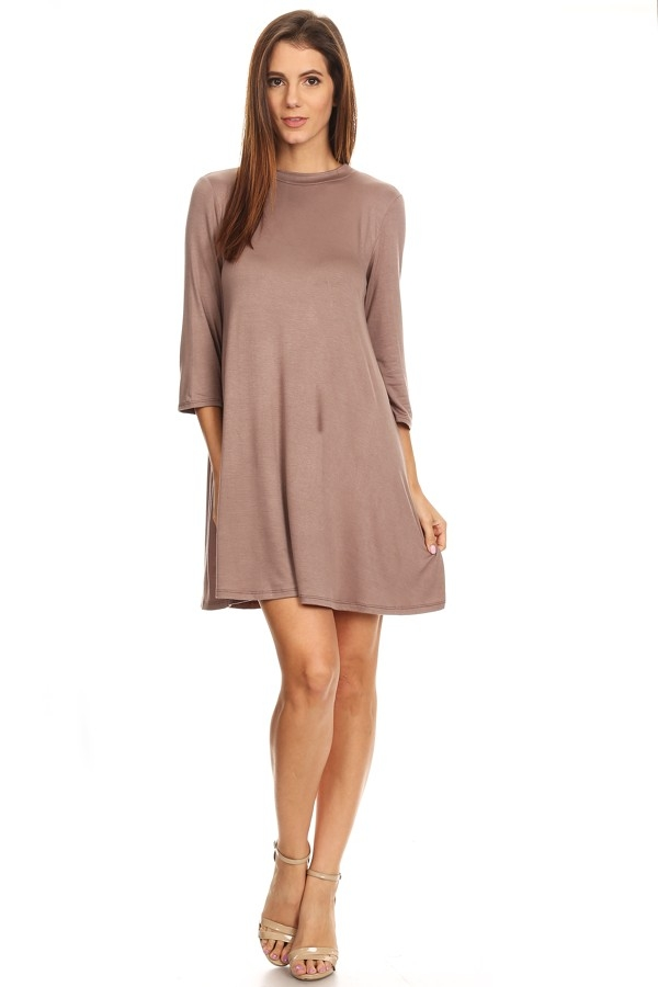 Relaxed crew neck dress - orangeshine.com