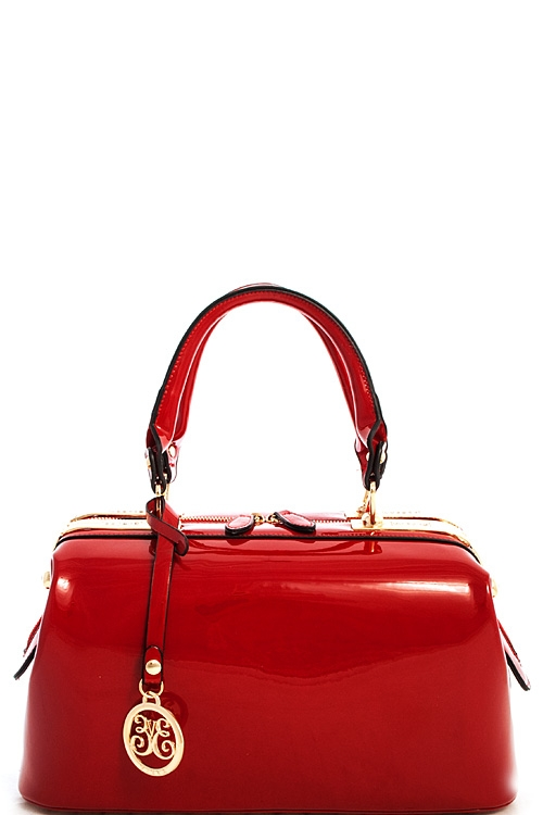 Cute Princess Glossy Satchel - orangeshine.com