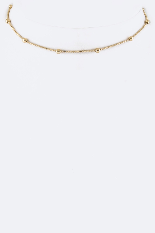 Metal Beads Station Choker - orangeshine.com