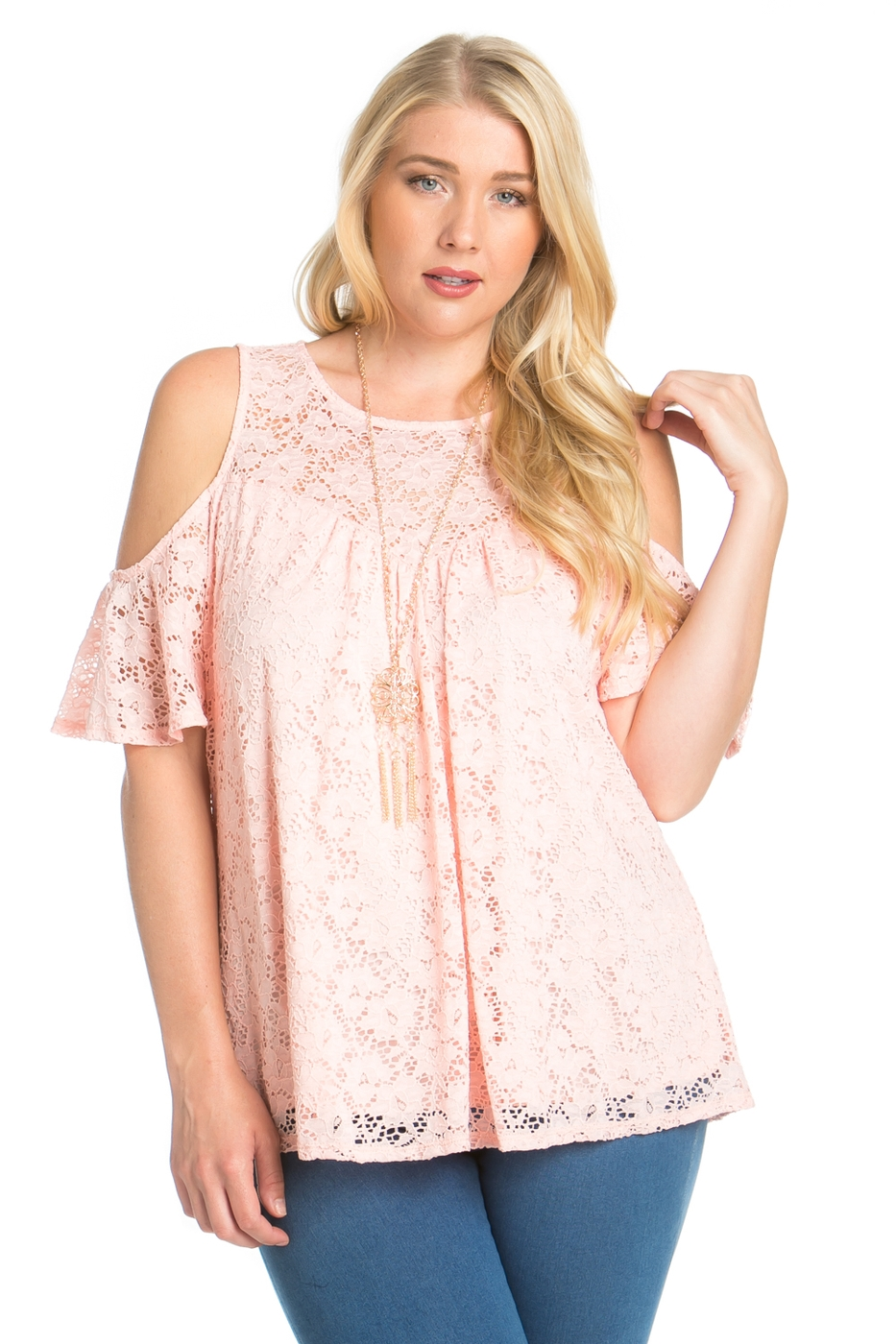 PLUS SIZE STRETCH LACE TOP - orangeshine.com
