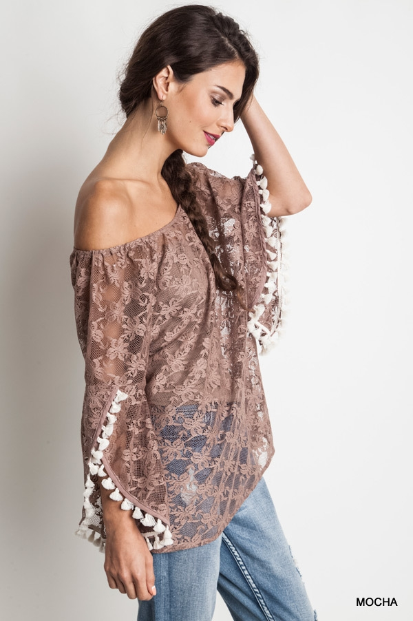 OFF THE SHOULDER LACE TOP - orangeshine.com