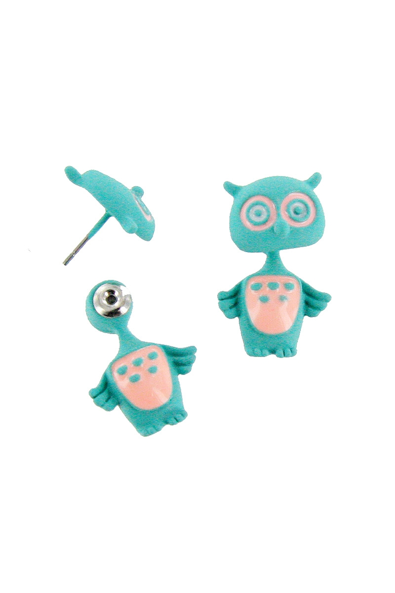 Front and Back Owl Earring - orangeshine.com