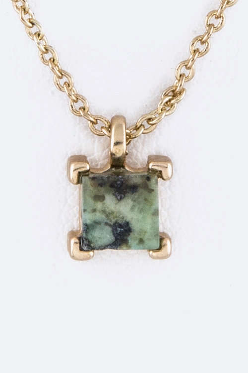 Petite Square Semi Necklace - orangeshine.com