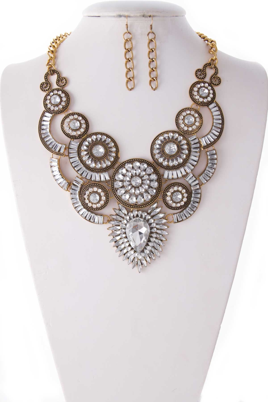 CRYSTAL BIB NECKLACE SET - orangeshine.com