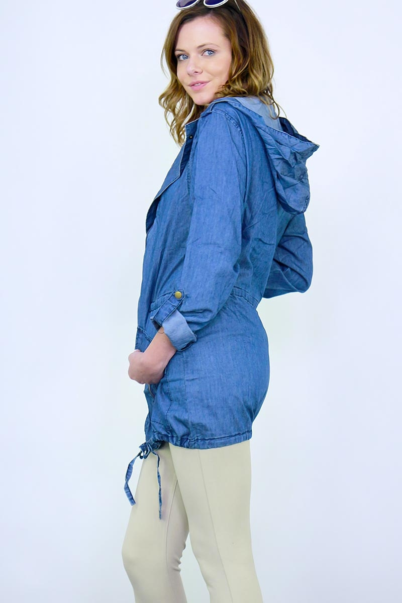 CHAMBRAY  DENIM COLOR JACKET - orangeshine.com