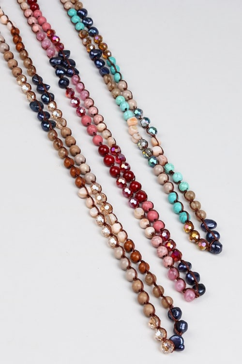 FRESHWATER PEARL LONG NECKLACE - orangeshine.com