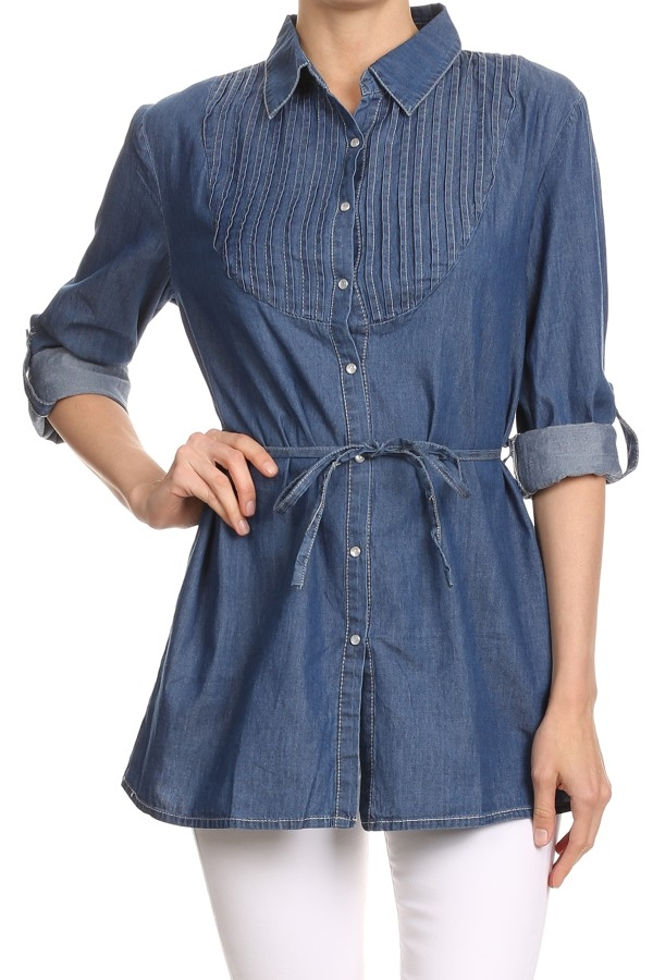 DENIM TUNIC SHIRT - orangeshine.com