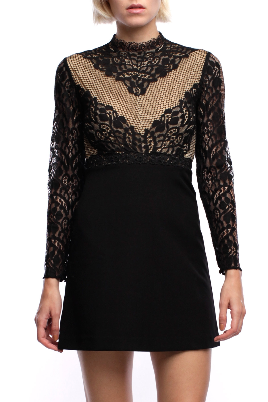ELOISE LACE MINI DRESS - orangeshine.com