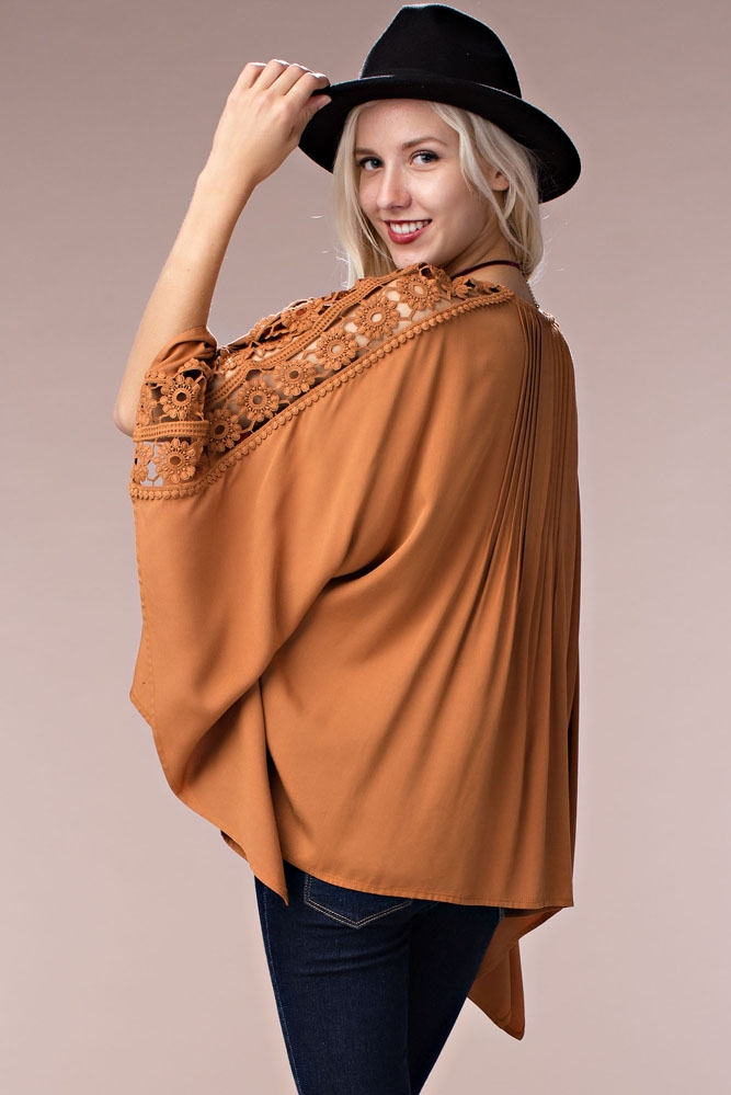 Short Winged Poncho Cardigan - orangeshine.com