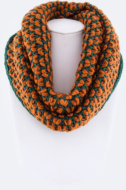 Mix Knit Infinity Scarf - orangeshine.com