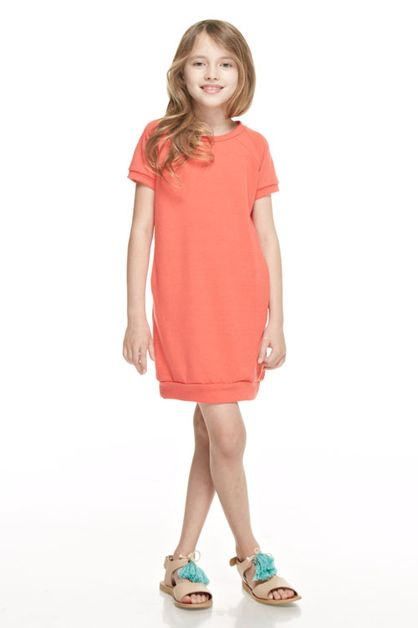 French terri short sleeve dress - orangeshine.com