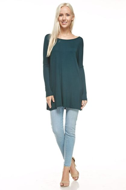 LONG SLEEVE LOOSE FIT DRESS - orangeshine.com