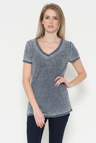 V-Neck Loose Top - orangeshine.com