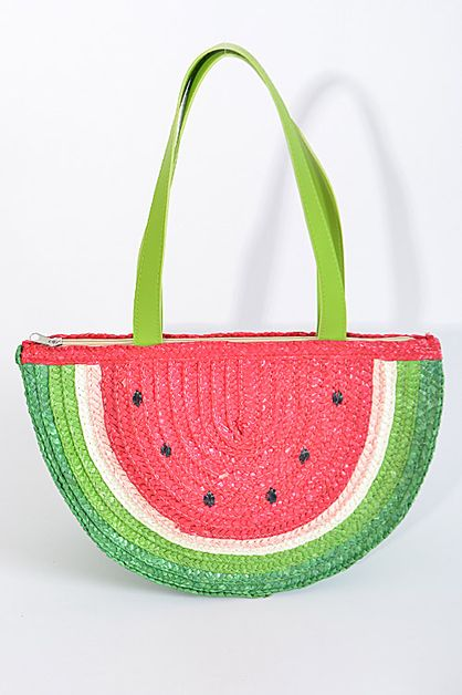 Watermelon Design Beaded Clutch - orangeshine.com