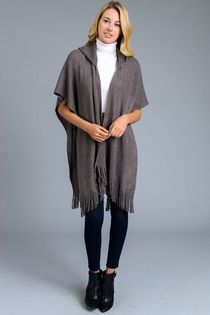 HOODED PONCHO - orangeshine.com