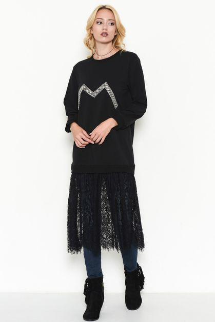 SHEER LACE BOTTOM TUNIC - orangeshine.com