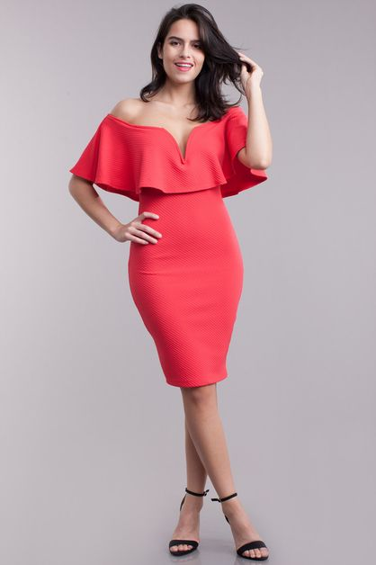 Off the shoulder dress - orangeshine.com