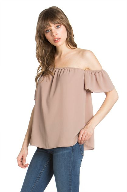 SHORT SLEEVE OFF SHOULDER TOP - orangeshine.com