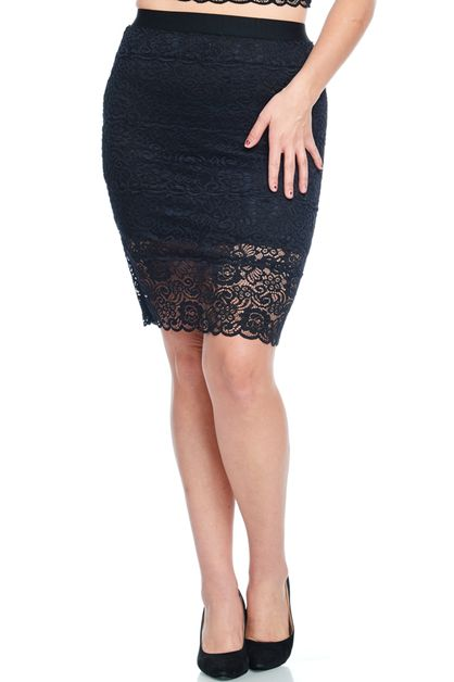LONG LACE PLUS SKIRT - orangeshine.com