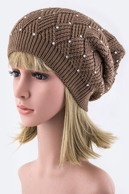 Basketweave Beanie Hat - orangeshine.com