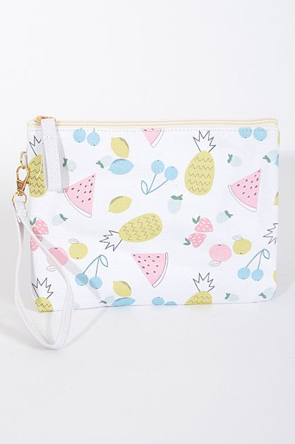 Colorful Fruits Design Clutch - orangeshine.com