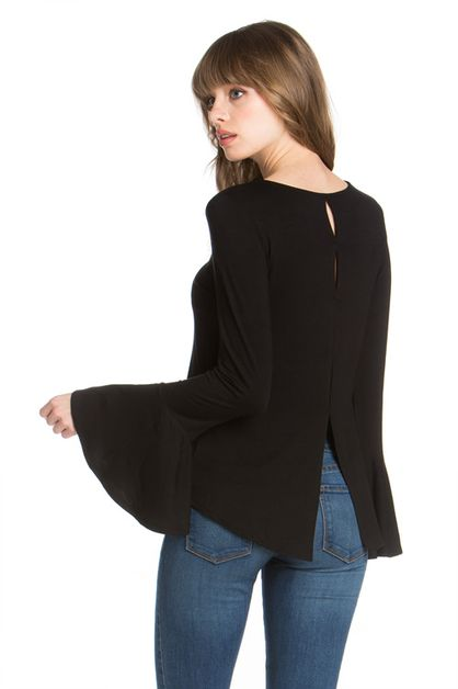 BELL SLEEVE TOP BACK DETAIL - orangeshine.com