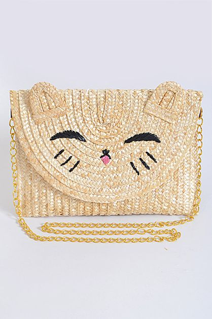 Daily Kitty Inspired Beaded Clutch - orangeshine.com