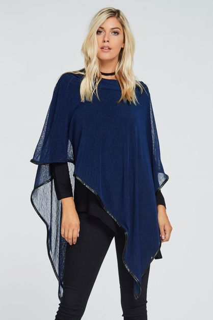 PONCHO OVER STYLISH TUNIC - orangeshine.com