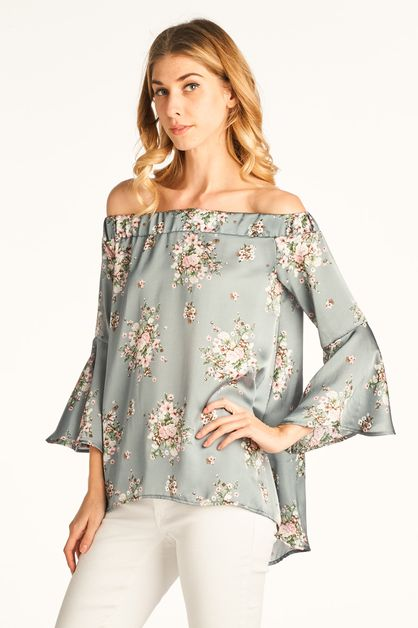 Off The Shoulder with Bell Sleeves  - orangeshine.com