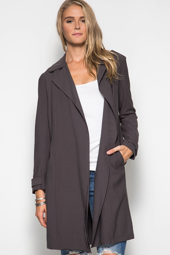 SL3045 - MIDI TRENCH COAT - orangeshine.com