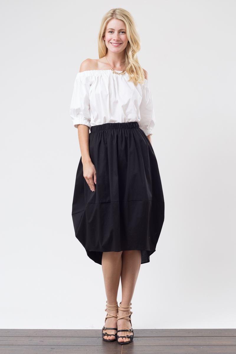 MIDI BALLOON SKIRT - orangeshine.com