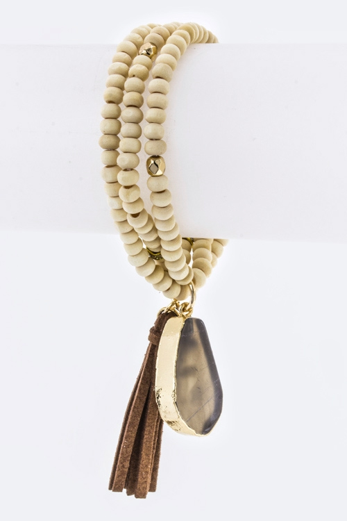 Tassel  Agate Charms Necklace - orangeshine.com