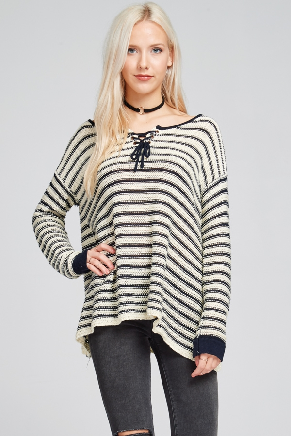 Stripe sweater - orangeshine.com