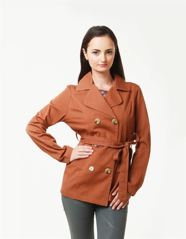 DOUBLE BREASTED PEACOAT - orangeshine.com