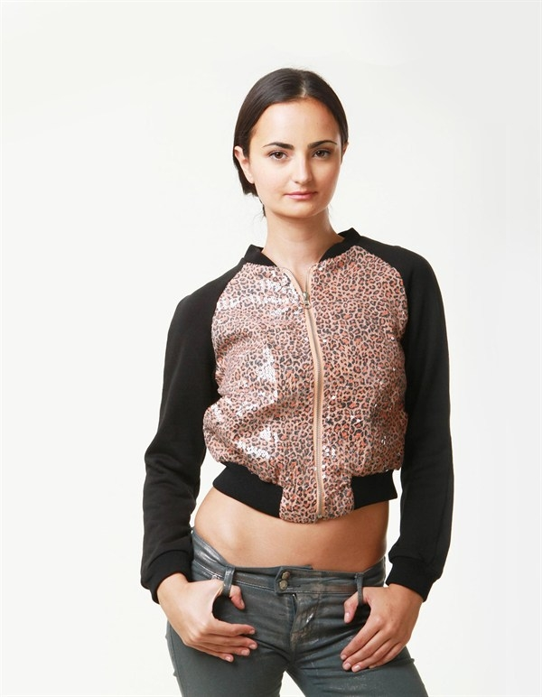 SHINY SEQUINED JACKET - orangeshine.com