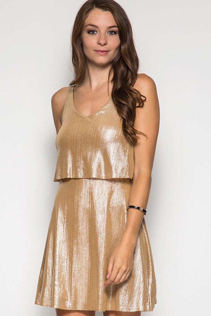 SL1154 - METALLIC DRESS - orangeshine.com