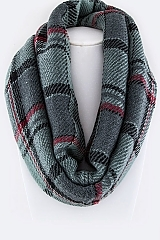 Mad For Plaid Infinity Scarf - orangeshine.com