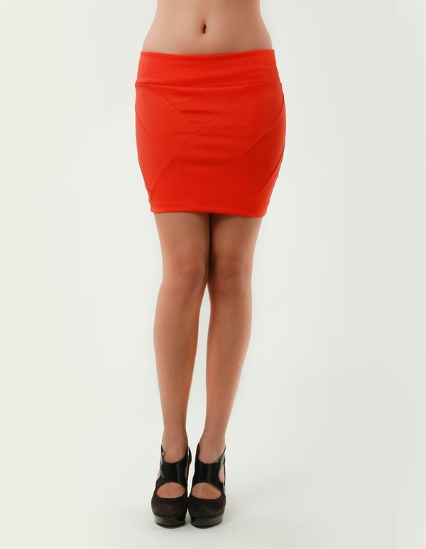 IMPORT PANELED BODYCON SKIRT - orangeshine.com