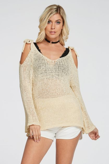 OPEN SHOULDER CROCHET TOP - orangeshine.com