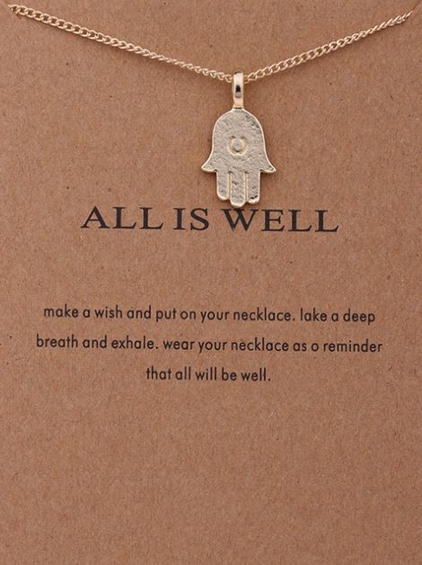 All is well Necklace - orangeshine.com