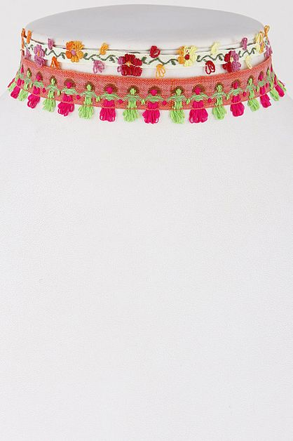 Colorful Indian Style Choker - orangeshine.com