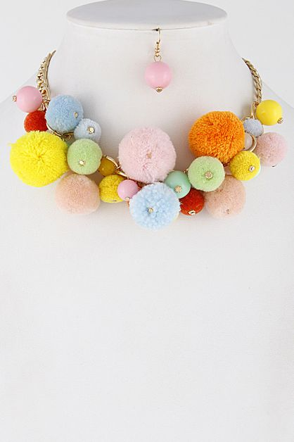 Unique Puff Balls Choker - orangeshine.com