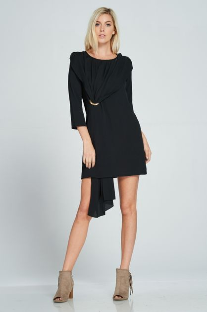 STYLISH SURPLICE TUNIC DRESS - orangeshine.com