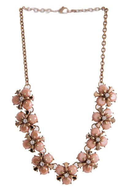 MULTI FLOWER BIB NECKLACE - orangeshine.com