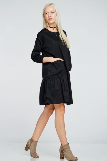 SIDE CRUNCH POCKET DRESS - orangeshine.com