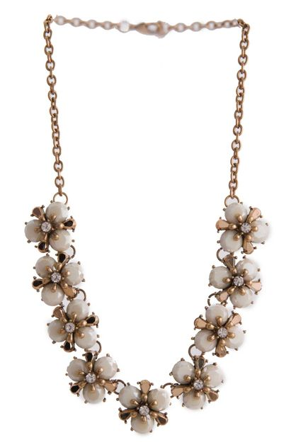 MULTI FLOWER BIB NECKLACE SET - orangeshine.com