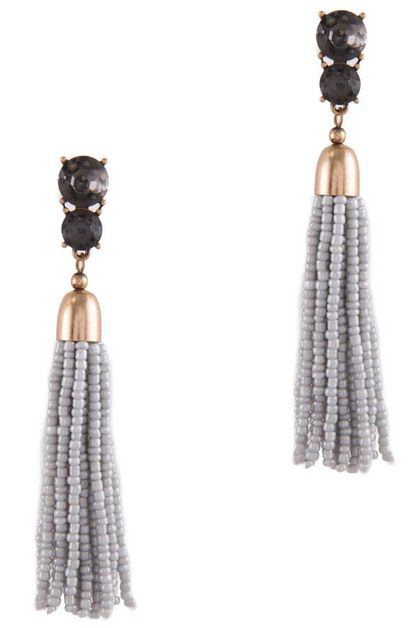 BEADED TASSEL EARRING  - orangeshine.com