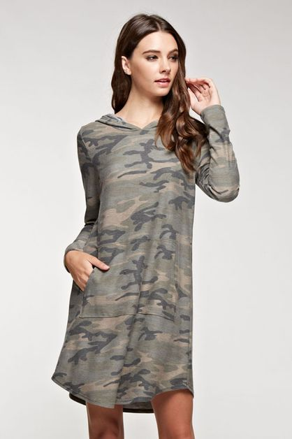Camouflage hoodie dress - orangeshine.com
